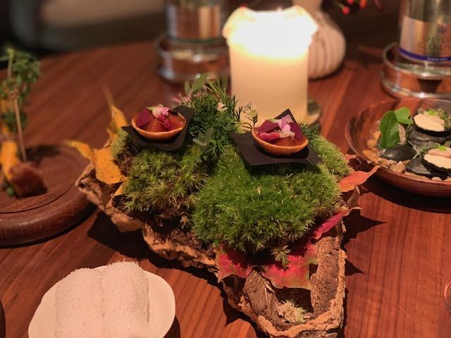 Food on a bonzai tree at Core