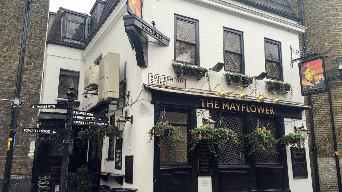 The Mayflower - possibly London's oldest riverside pub