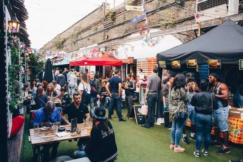 Vauxhall Street Food Garden - it's a garden, with streetfood in Vauxhall