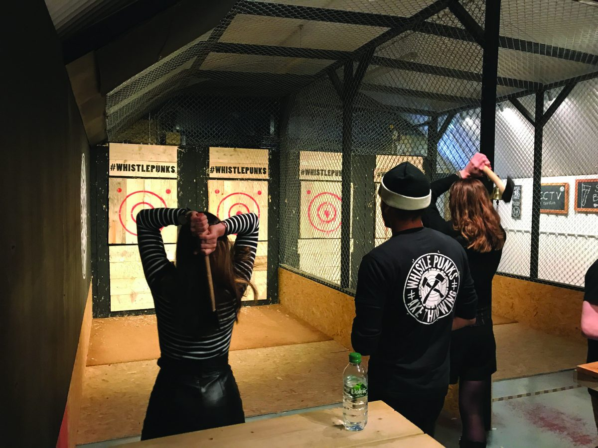 Axe throwing punks